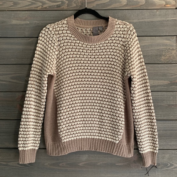 Quinn Taupe and Cream Sweater